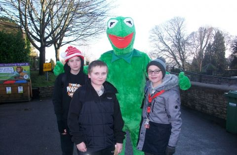 Meeting Kermit the Frog